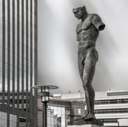 """Koloss"" Sculpture of Igor Mitoraj in La Defense"
