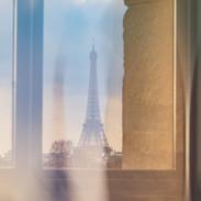 """""""La Tour Eiffel"""" View from Musée Jeu de Paume, Place de la Concorde"""