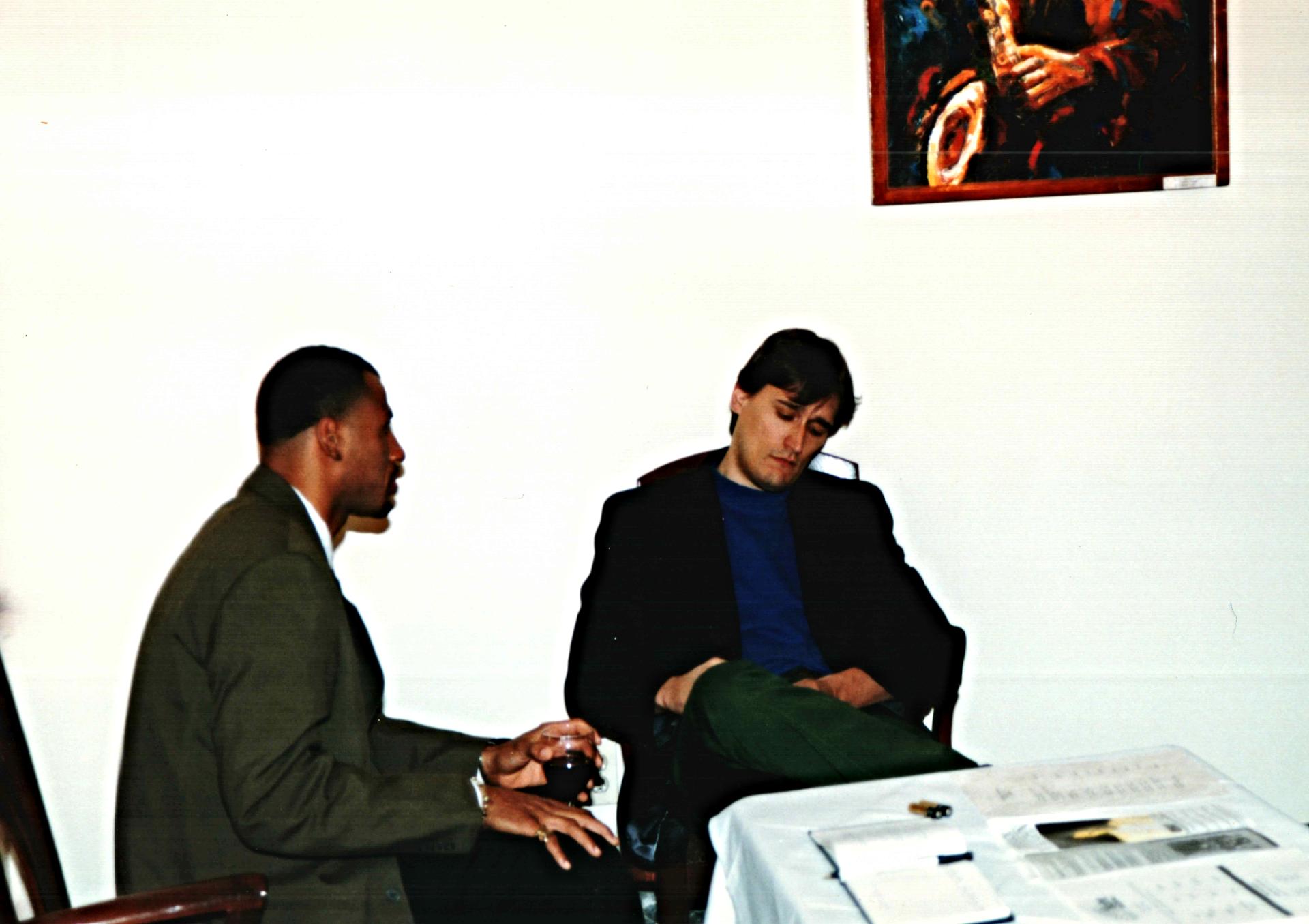 Being interviewed by Northwest Magaz