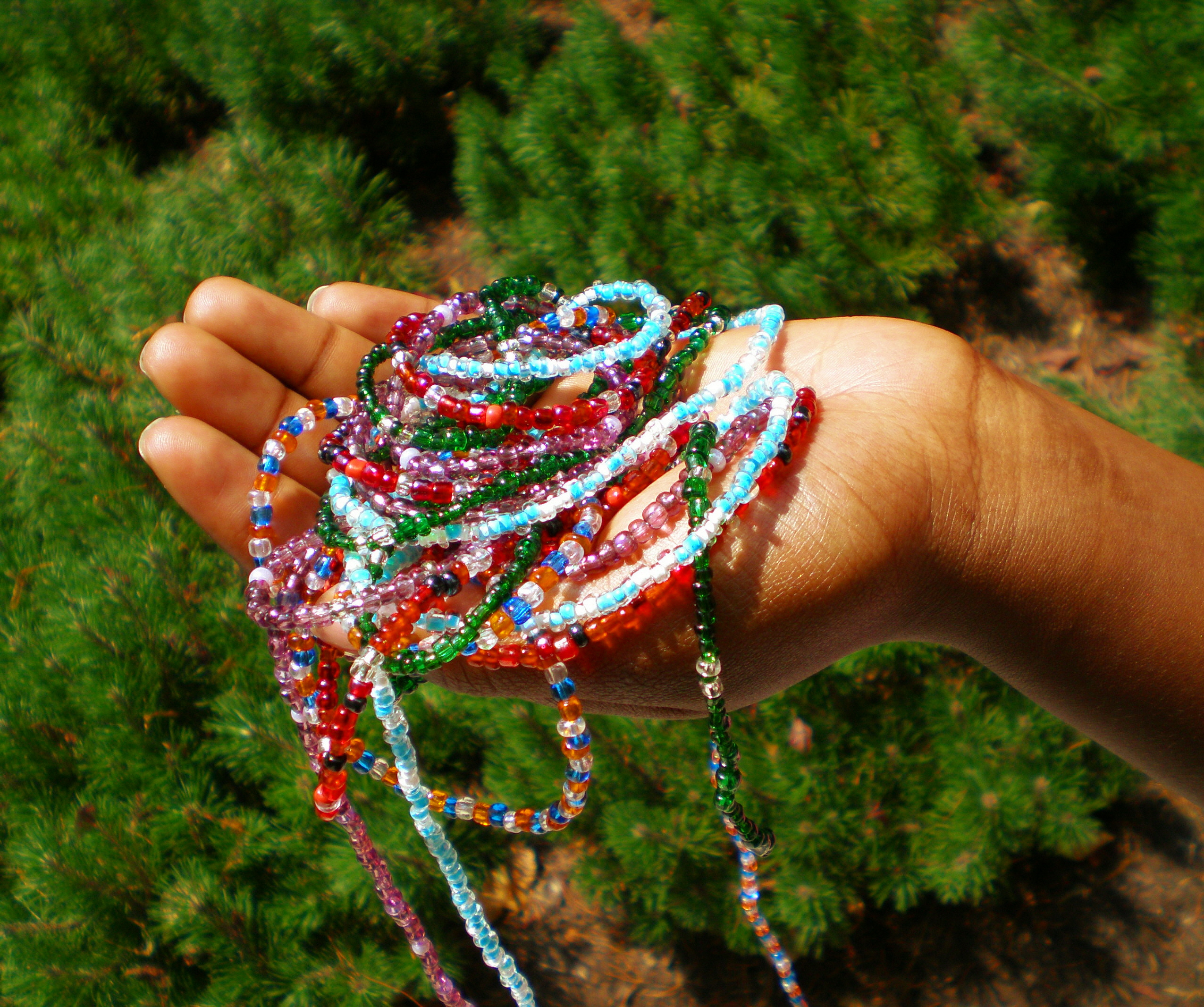 A handfull of beads