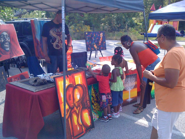 MD Family Day Art Display