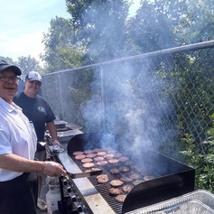 Grilling on Site with Our Amazing Staff