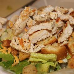 Crispy Chicken over Greens