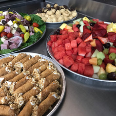 Charcuterie/Mini Cannoli/Creme Puff/Eclair/Fresh Fruit