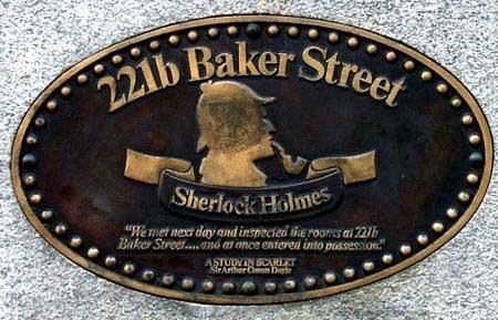 Plaque of Sherlock's address