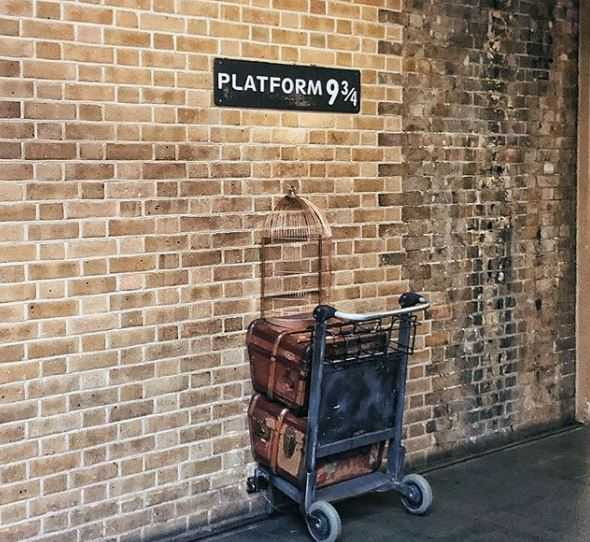 Platform 9 and three quarters Kings Cross