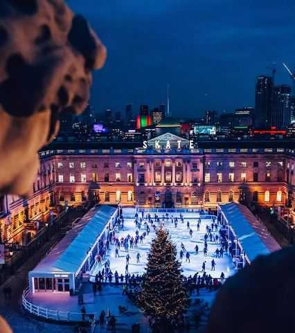 Ice rink at Somerset House