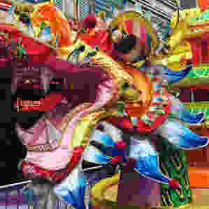 Colourful Chinese dragon
