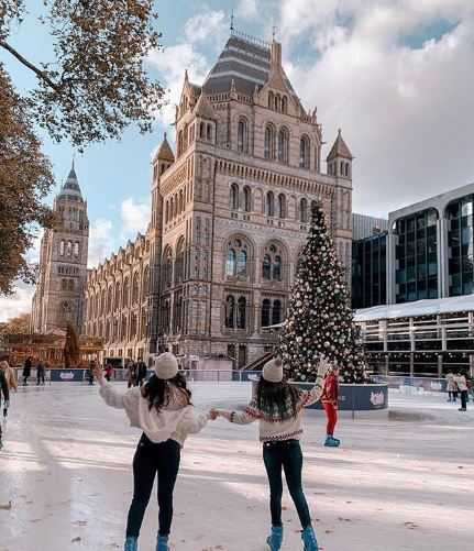 Ice rink at Natural History Museum