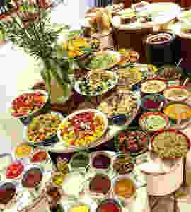 Mixture of food
