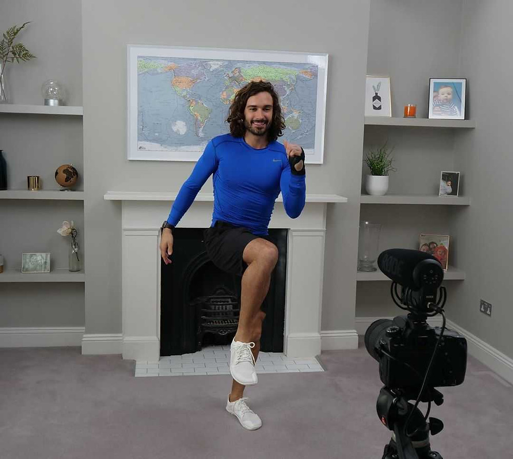 Joe Wicks exercise class