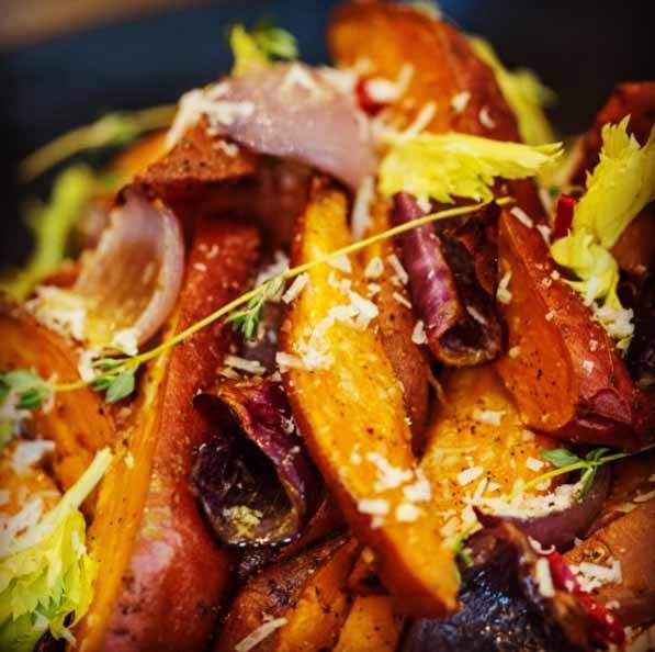 Salad with sweet potato