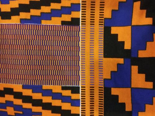 Blue, Black, and Orange Patter