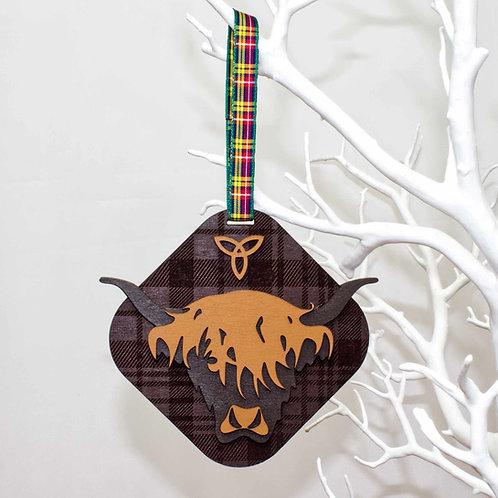 Highland Cow Hanging Dec