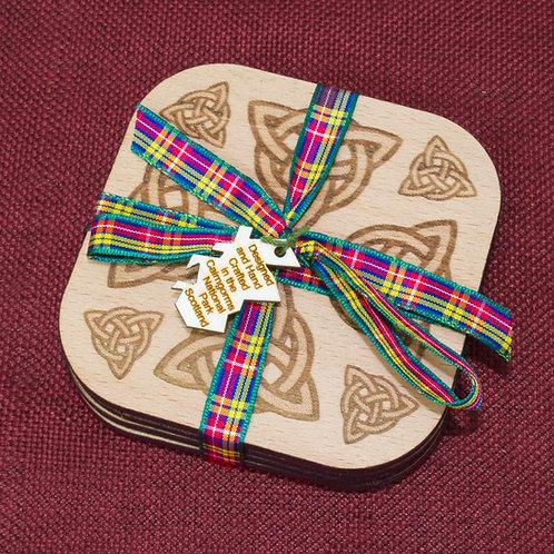 Set of Four Celtic Coasters
