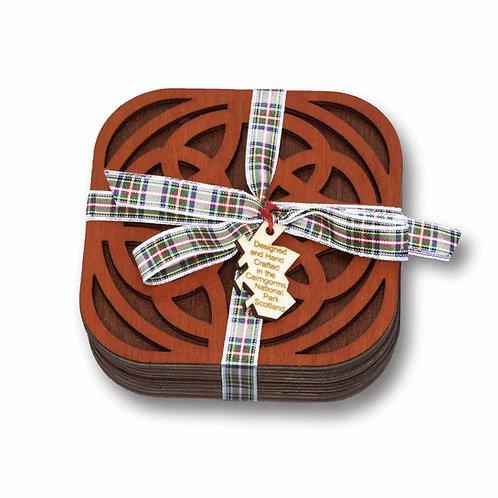 Set of Four Celtic Knot Coasters