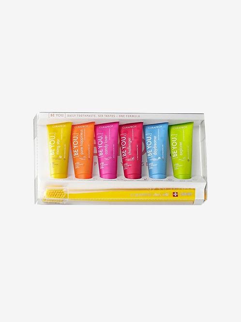 Kit Curaprox BE YOU Com 6 Cremes Dentais+Escova 5460