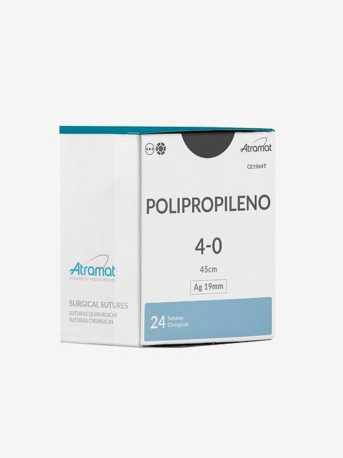 Fio de sutura polipropileno 5-0 agulha 19mm PE1965T - Atramat