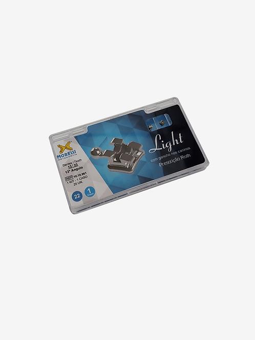 "Kit de Braquetes Morelli  Roth Light .022"" Can. 13° Ang. Gancho Can./Prés"