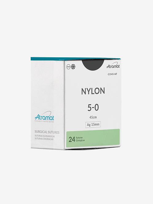 Fio de sutura Nylon 5-0, agulha 15mm - C1545-NT - Atramat