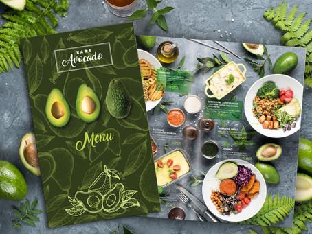Дизайн меню для вегетарианского кафе