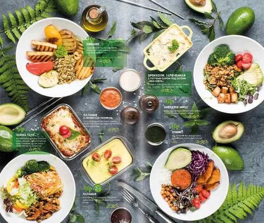 Дизайн меню с фотографиями для ресторана АВОКАДО