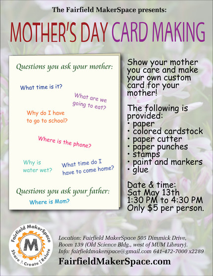 Mother's Day Card Making Workshop