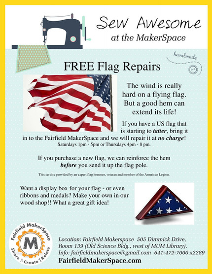 NEW! FREE Flag Repairs @ FF MakerSpace