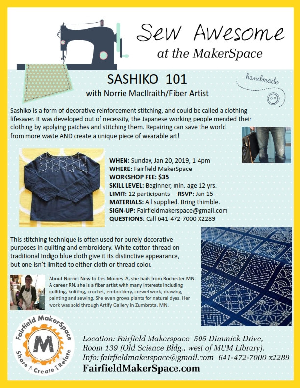 Learn a Japanese form of stitching
