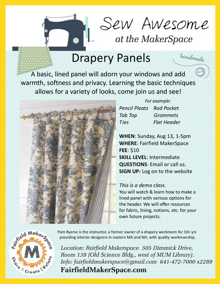 Drapery Panel Workshop