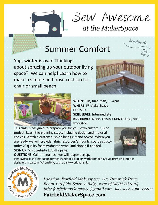 """Summer Comfort"" Custom Cushion Sewing Demo"