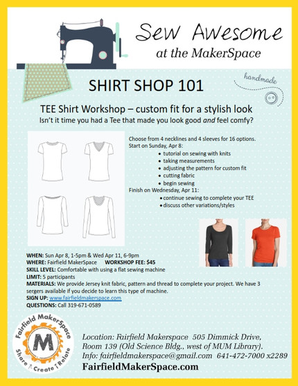 Shirt shop and pattern making