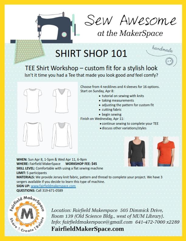 Shirt shop and pattern making