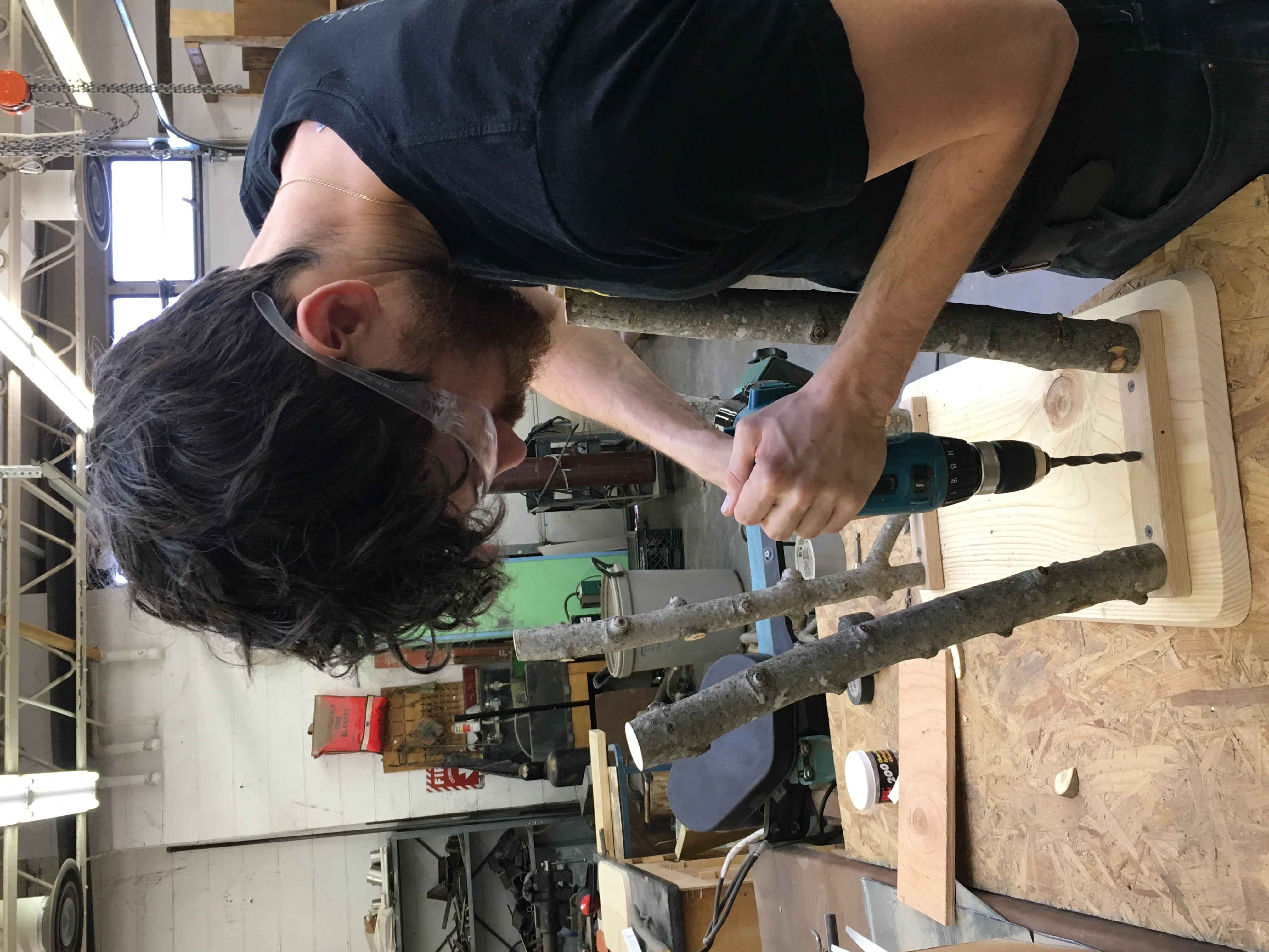 Mike D attaching legs
