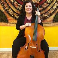 Student with cello