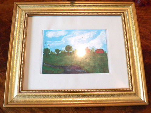 """""""I Remember Spring"""" (Oil on Canvas) a primitive art collectors treasure because"""