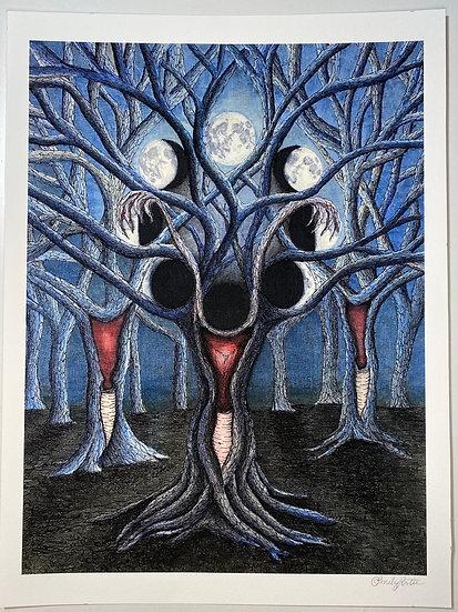 "Print of ""Triple Goddess"""