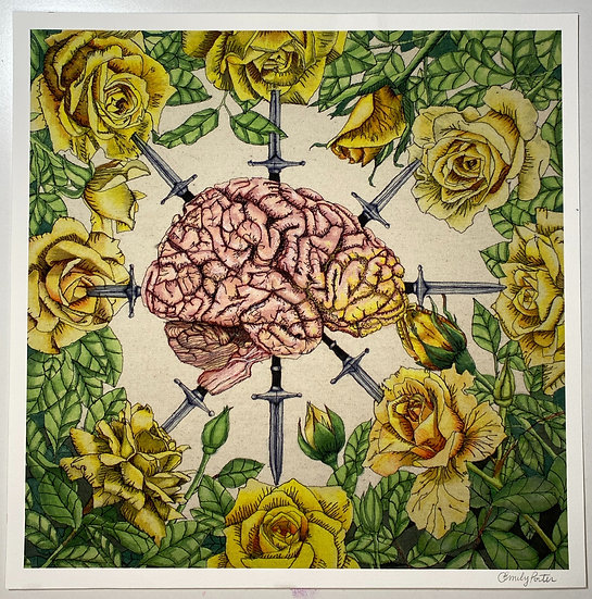 """Print of """"War of the Roses"""""""