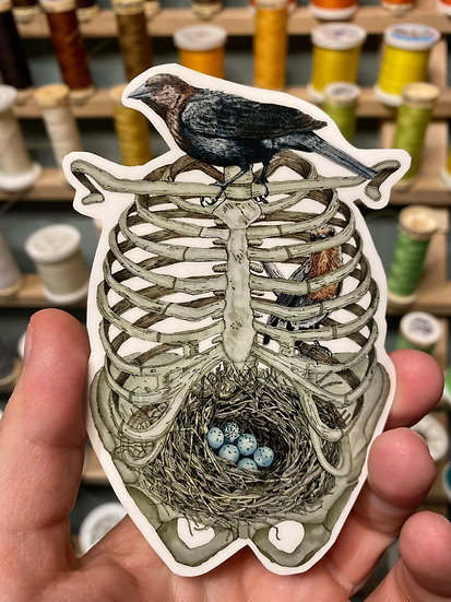 Birds and Bones Sticker