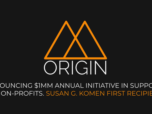 Origin launches $1MM Annual CTV Ad Fund 'Origin Impact'. Names Susan G Komen as first recipient.