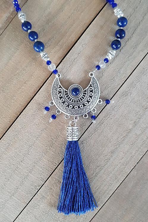 """Collier sautoir  """"Isis"""" - Lapis Lazuli"""