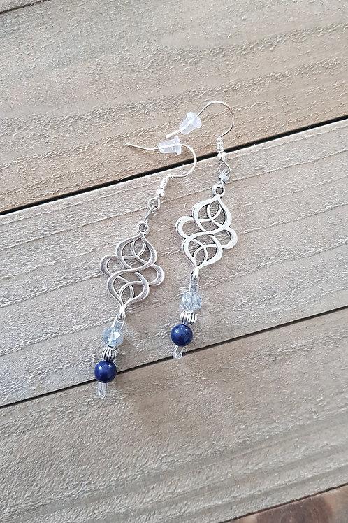"""Boucles d'oreilles """"Nuit d'orient"""" - Lapis lazuli"""
