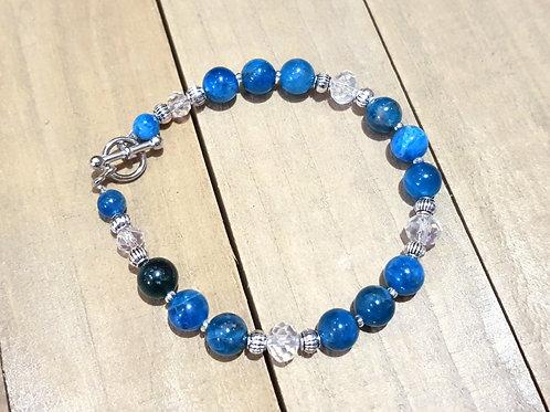 Bracelet Apatite perles rondes