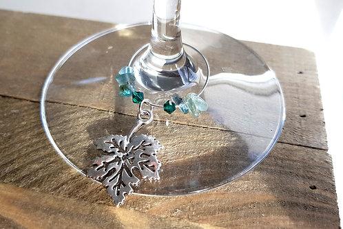 """Marques verres """"Gaïa"""" Kunzite et cristal - coffret 6 pièces feuilles différentes"""
