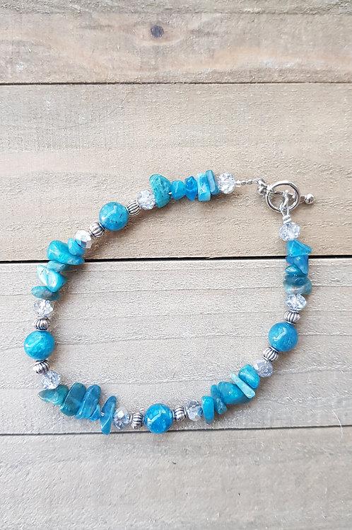 Bracelet Apatite Modèle 1