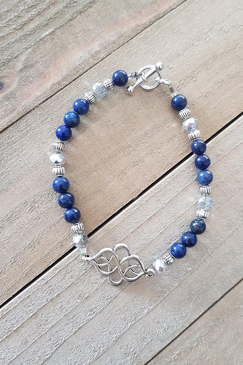 """Bracelet """"Nuit d'orient"""" - Lapis-Lazuli"""
