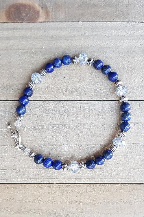 Bracelet perles rondes - Lapis lazuli
