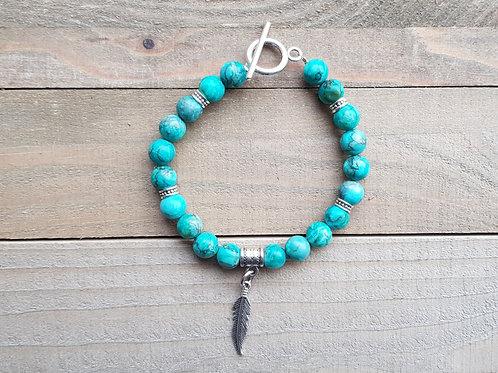 """Bracelet """"Lakhota"""" - Turquoise"""