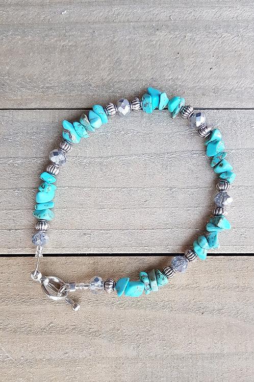 "Bracelet Turquoise amérindien ""Meïka"""