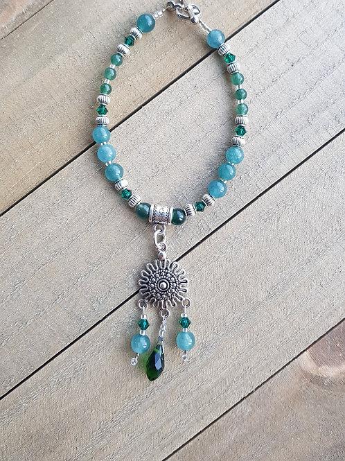 Bracelet Jade et cristal